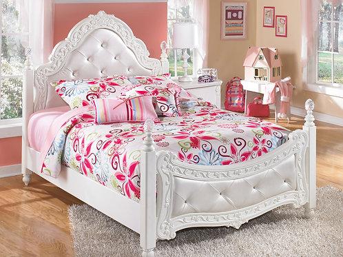 Exquisite Full White Bed
