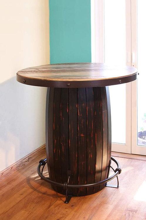 Antique Multicolor Bistro Table