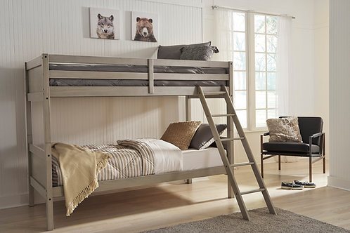 Lettner Light Gray Twin/Twin Bunk Bed
