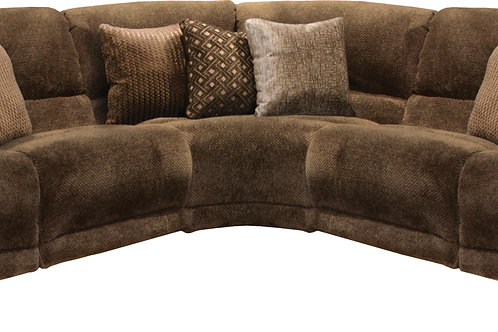 Burbank Chocolate 5-PC Reclining Sectional