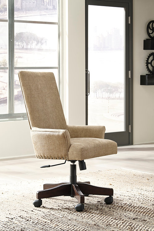 Baldridge Upholstered Swivel Desk Chair