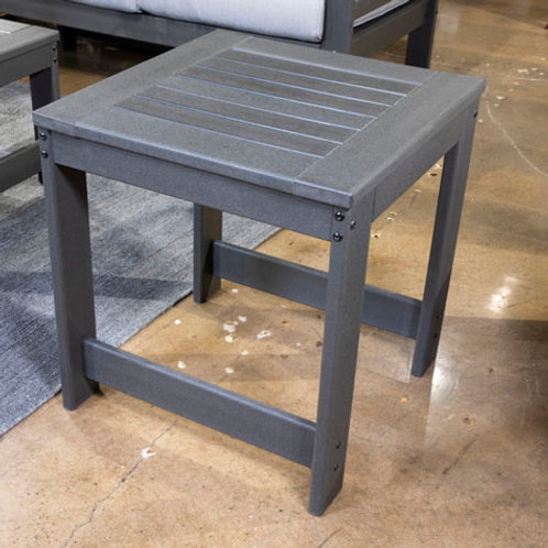 Amora Charcoal Gray Outdoor End Table