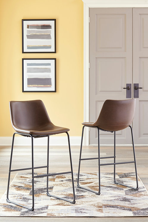 Centair Brown Tall Upholstered Barstools