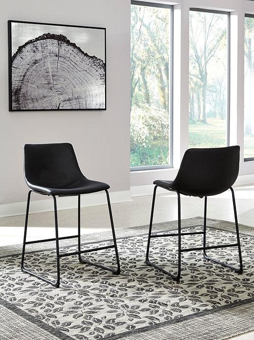 Centair Black Upholstered Barstools