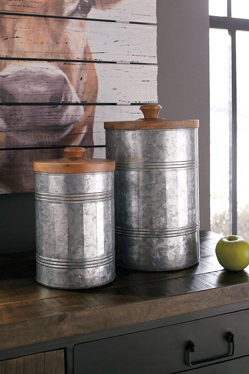 Divakar Antique Gray Jars