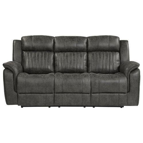 Centeroak Brownish-Gray Double Reclining Sofa