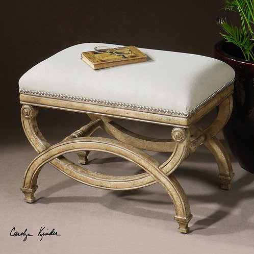 Karline Hand-Carved Small Bench