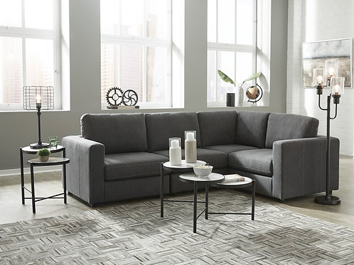 Candela Charcoal 4-PC Sectional