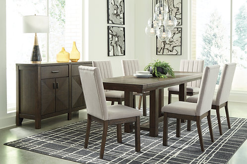 Dellbeck Dining Table and Six Chairs