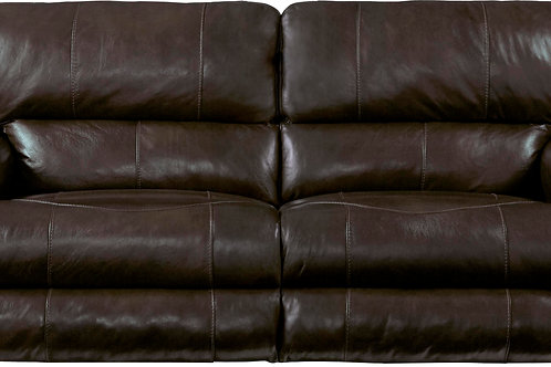 Wembley Chocolate Leather Lay Flat Reclining Sofa