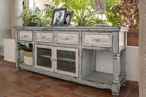 Aruba Sky Green Two-Tone TV / Sofa Table