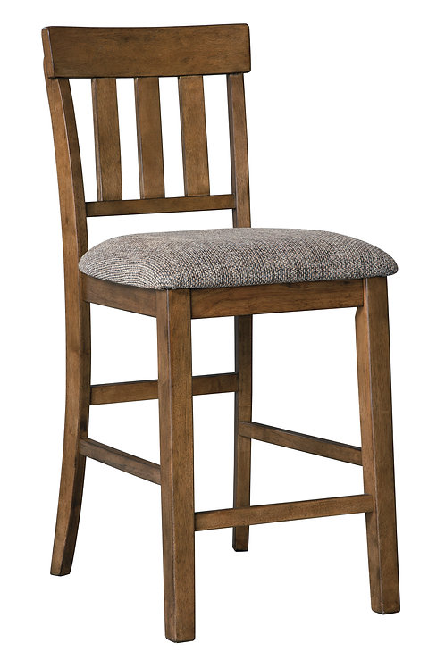 Flaybern Brown Upholstered Barstools