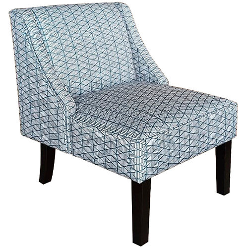 Janesley Teal/Cream Accent Chair