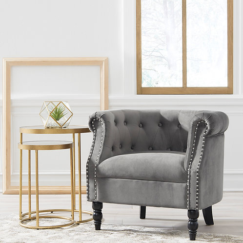 Deaza Gray Accent Chair