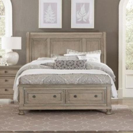 Bethel Gray Queen Storage Bed