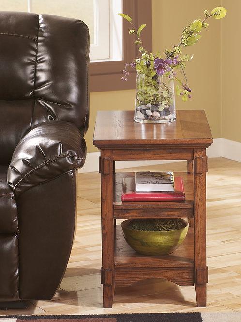 Cross Island Medium Brown Chairside End Table