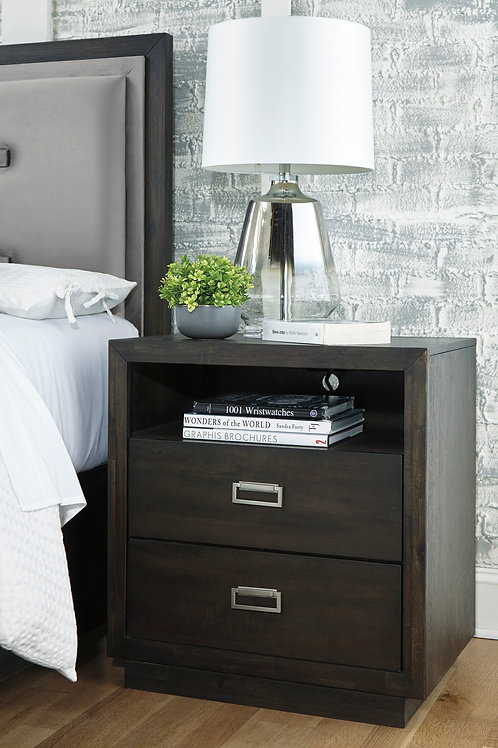 Hyndell Two Drawer Nightstand