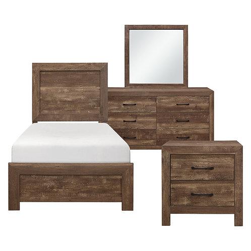 Corbin Dark Brown Youth Bedroom Set