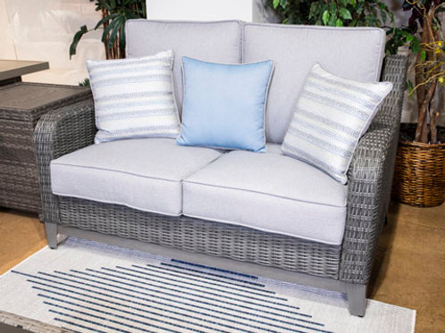 Elite Park Gray Outdoor Loveseat with Cushion