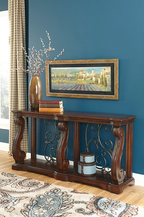 AlymereRustic Brown Sofa Table