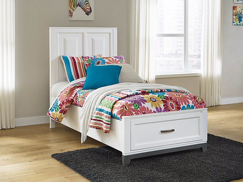 Brynburg White Twin Storage Bed