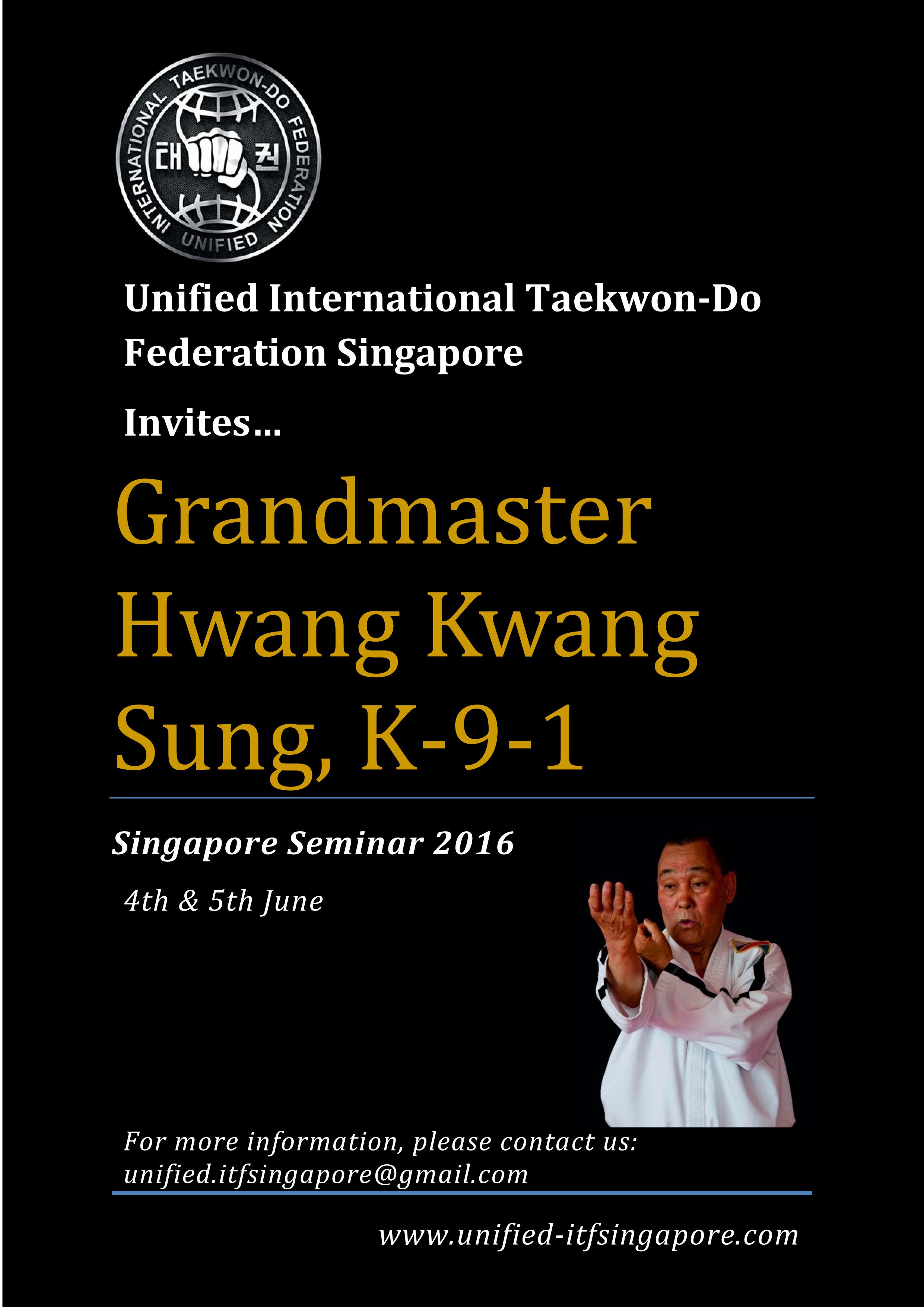 Singapore Taekwon-Do Seminar 2016