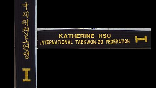 ITF Black Belt - Customize