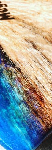 Red Cedar Pearl Resin Detail