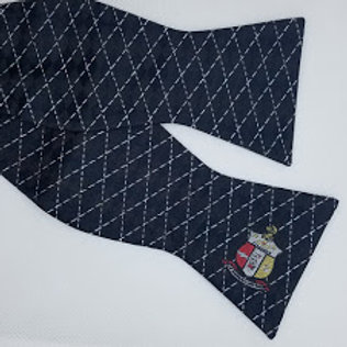 The Shield with Black Diamonds Self-Tie Bow Tie
