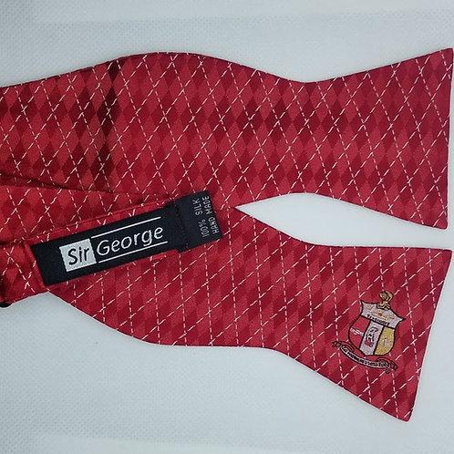 The Shield with Crimson Diamonds Self-Tie Bow Tie