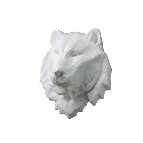 CLIFFORD THE WHITE PAPIER MACHE LION