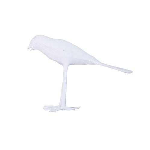 WHITE ABADA THE TALL PAPIER MACHE BIRD