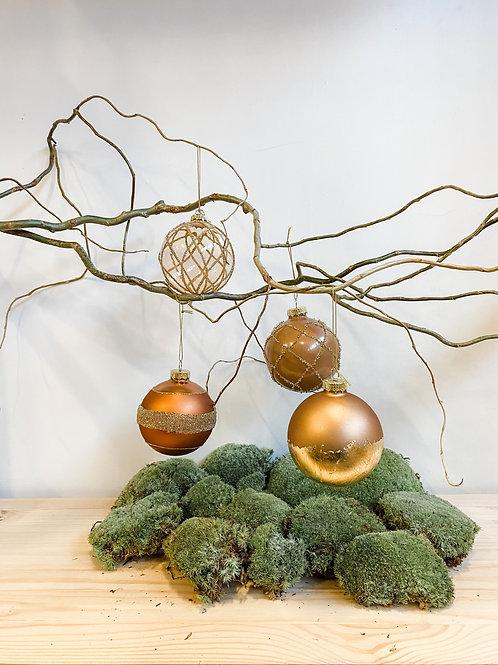 Bruut brons kerstballen