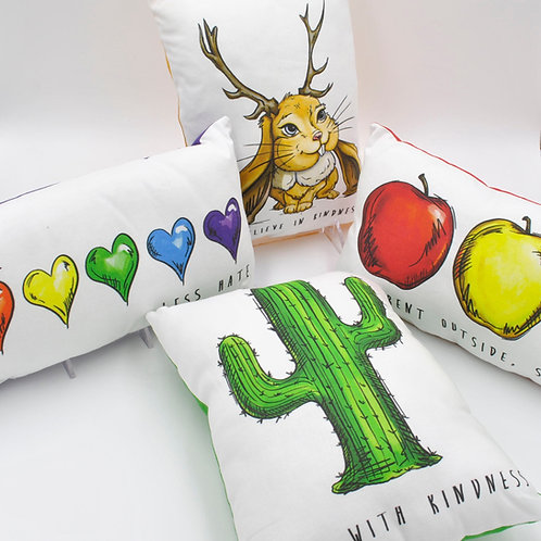 Kindness Collection Set of 4 Decorative Pillows