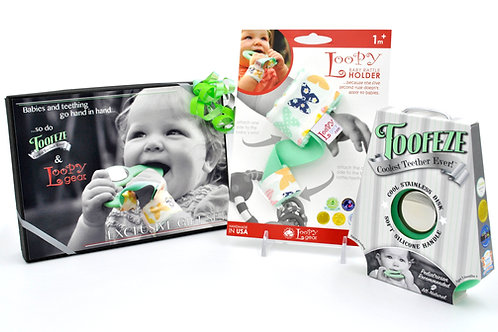 Exclusive Toofeze Loopy Gift Sets - Mint Butterfly
