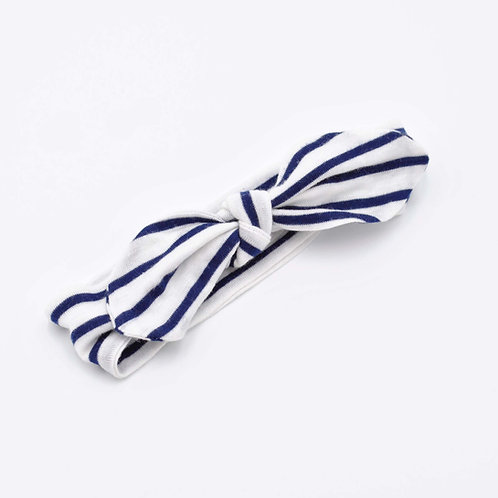 Navy Stripe Baby Headband