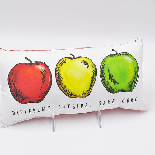 Different Outside, Same Core Decorative Pillow