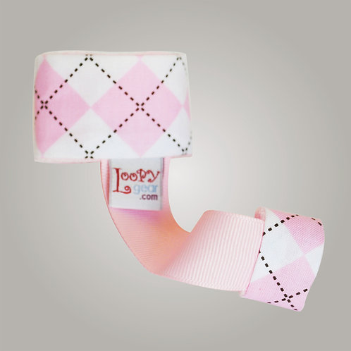 Baby Rattle Holder Ambitious Argyle Pink Loopy