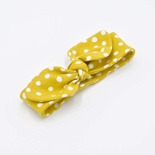 Gold Dots Baby Headband