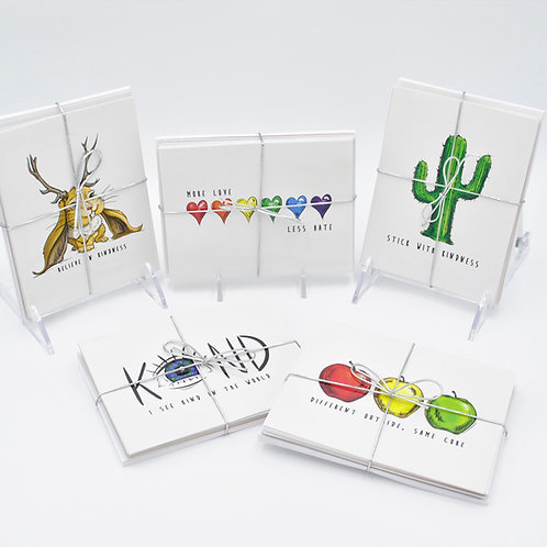 Kindness Collection Note Cards 10-pack (2 of each design)