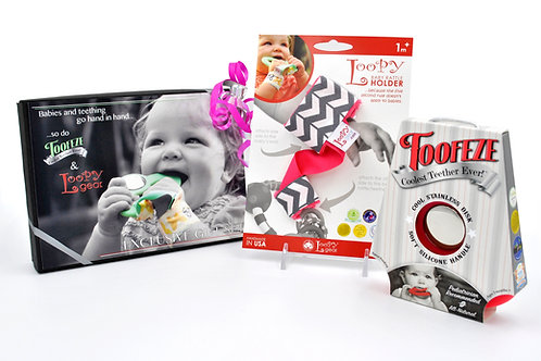 Exclusive Toofeze Loopy Gift Sets - Coral Chevron