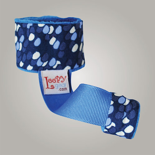 Baby Rattle Holder Blue Balloons Loopy