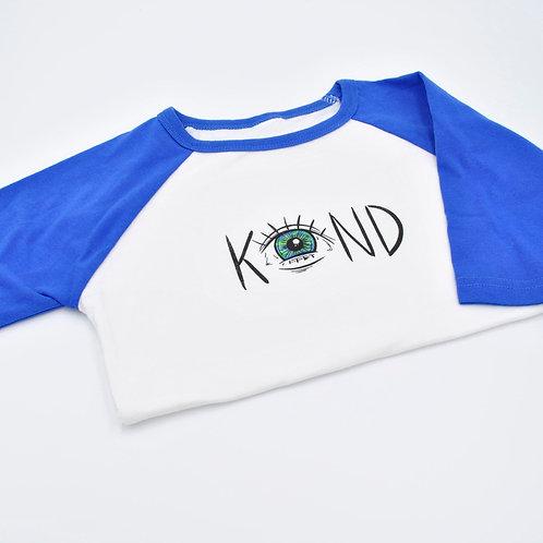I See Kind in the World Kids Blue Baseball Shirt