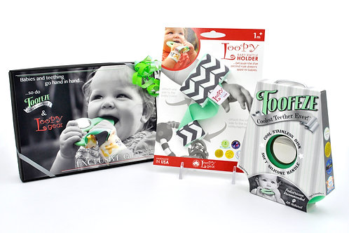 Exclusive Toofeze Loopy Gift Sets - Mint Chevron