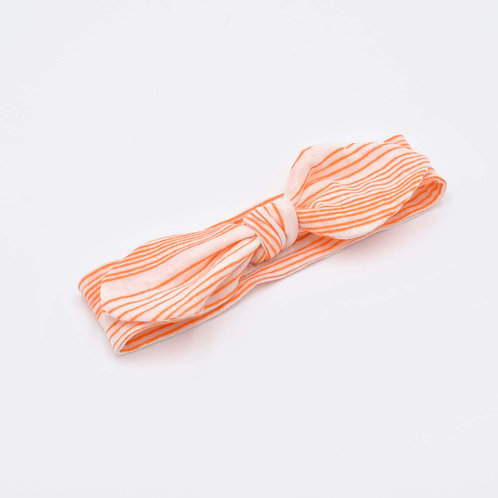 Orange Stripe Baby Headband