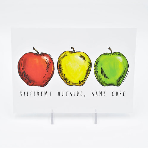 Different Outside, Same Core Art Print