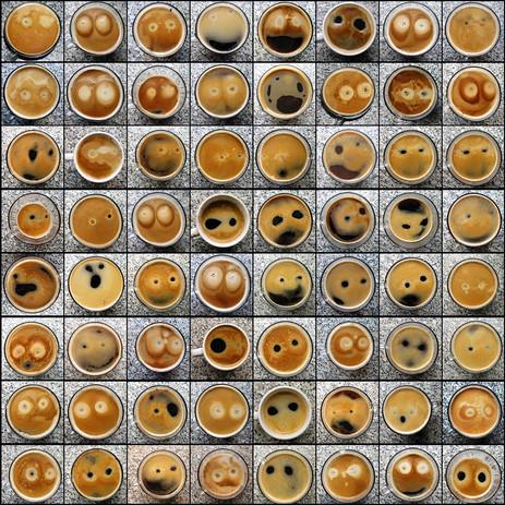 Pareidolia Faces in Coffee