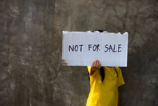 Human trafficking. I'm not for sale. Hum