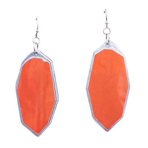 Geo Earrings Orange
