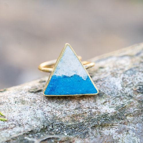 Triangle Ring Blue/Cream